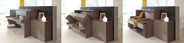 Meubles jacquelin armoire lit boone vente en ligne for Meuble bureau escamotable